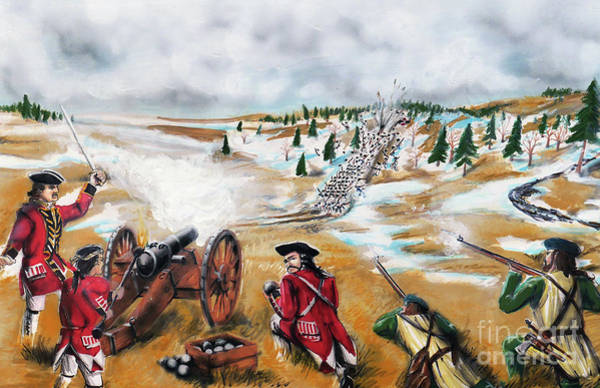 Quebec City Drawing - Battle For Quebec 1760 #3 by Loth