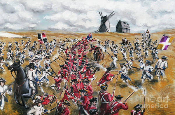 Quebec City Drawing - Battle For Quebec 1760 #4 by Loth