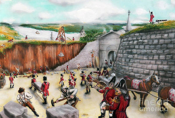 Quebec City Drawing - Battle For Quebec 1775 #1 by Loth