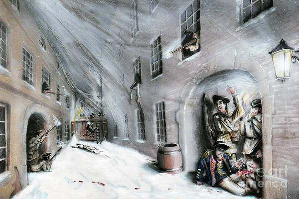 Quebec City Drawing - Battle For Quebec 1775 #2 by Loth