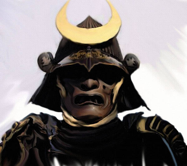 Samurai Painting - Battle Gear by Jeff DOttavio