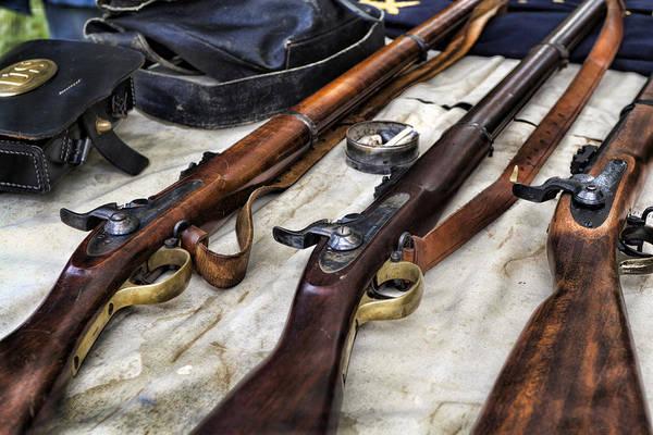 Rifles Photograph - Battle Gear by Peter Chilelli