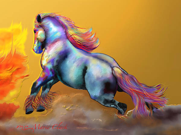 Scriptural Painting - Battle Horse by Marie Clark