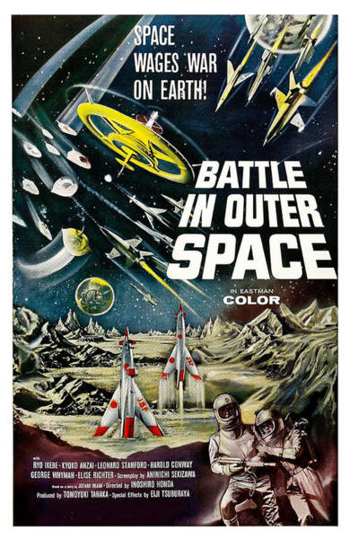 Wall Art - Painting - Battle In Outer Space by Long Shot