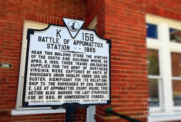 Photograph - Battle Of Appomattox Historical Marker by Jill Lang