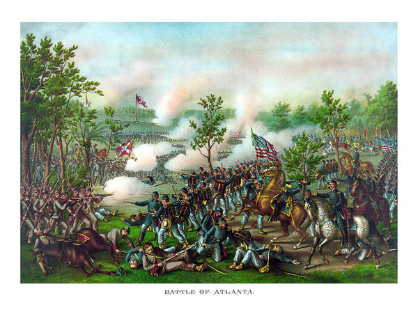 Confederate Generals Painting - Battle Of Atlanta by War Is Hell Store