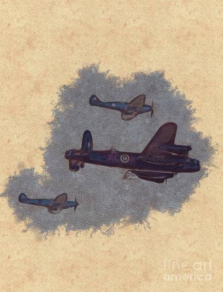 Wall Art - Painting - Battle Of Britain Fly Past by Esoterica Art Agency