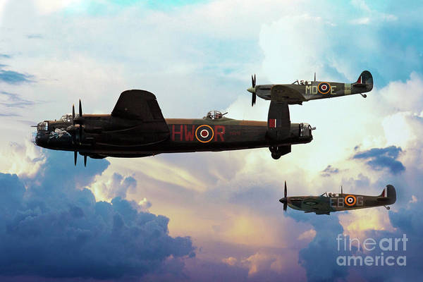 Wall Art - Digital Art - Battle Of Britain Memorial Flight by J Biggadike