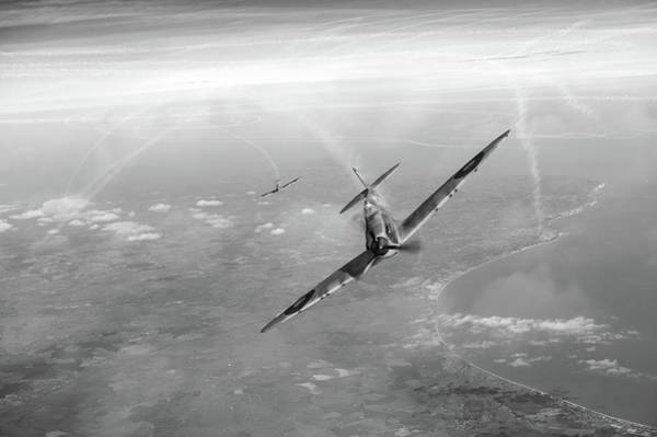Photograph - Battle Of Britain Spitfires Over Kent by Gary Eason