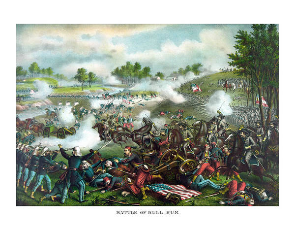 Wall Art - Painting - Battle Of Bull Run by War Is Hell Store