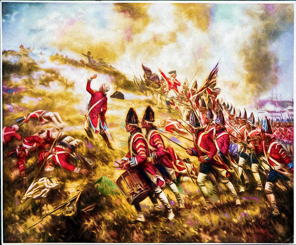 Painting - Battle Of Bunker Hill by Carlos Diaz
