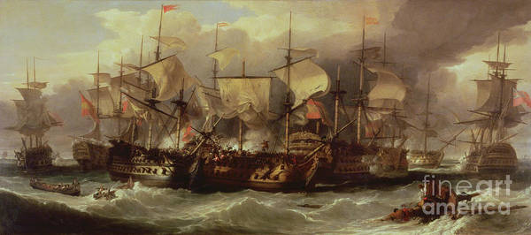 Engage Wall Art - Painting - Battle Of Cape St Vincent by Sir William Allan
