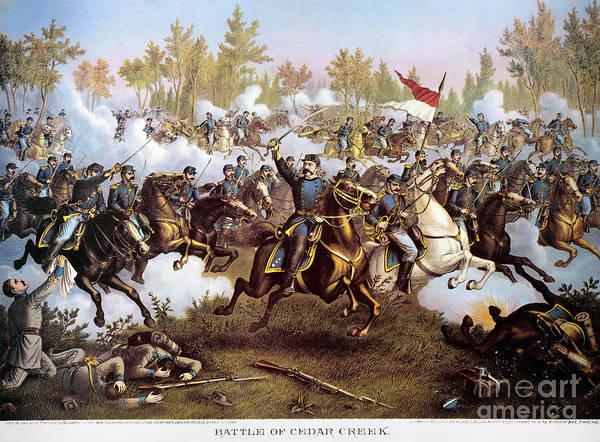 Allison Photograph - Battle Of Cedar Creek 1864 by Granger