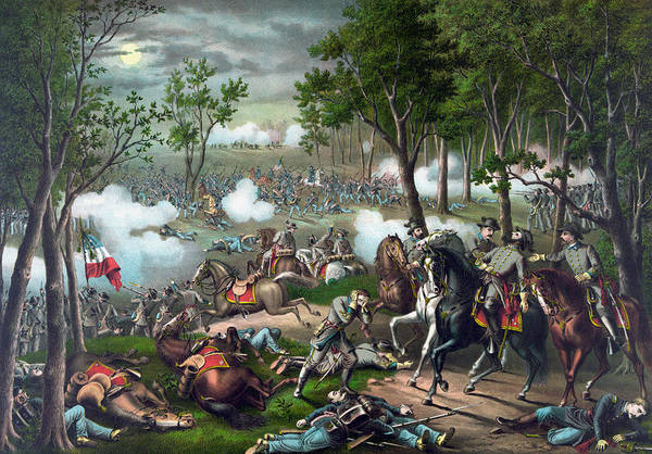 Confederate Generals Painting - Battle Of Chancellorsville - Death Of Stonewall by War Is Hell Store