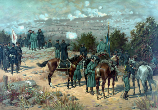 Missionary Ridge Painting - Battle Of Chattanooga - Missionary Ridge by War Is Hell Store