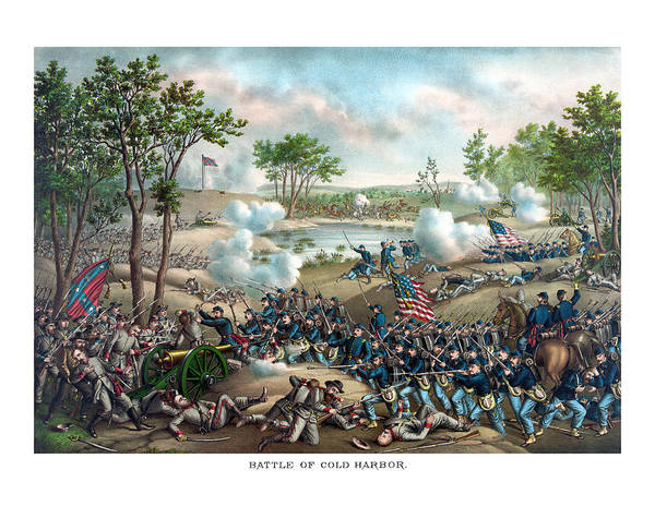 Civil War Wall Art - Painting - Battle Of Cold Harbor by War Is Hell Store