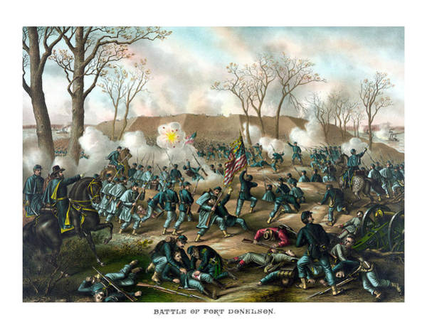 Wall Art - Painting - Battle Of Fort Donelson by War Is Hell Store