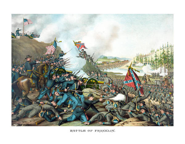 Civil War Wall Art - Painting - Battle Of Franklin - Civil War by War Is Hell Store