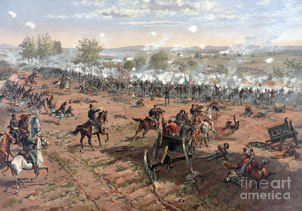 Cemetery Ridge Photograph - Battle Of Gettysburg Picketts Charge by Science Source