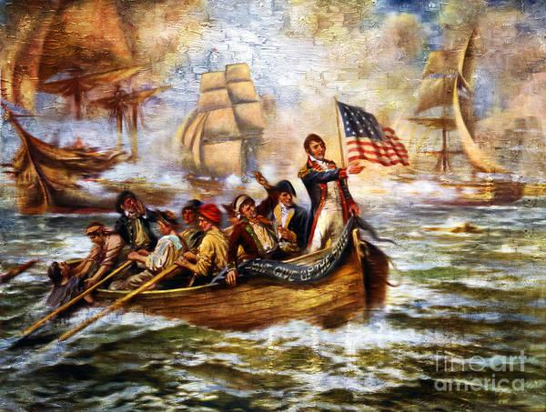 Painting - Battle Of Lake Erie by Carlos Diaz