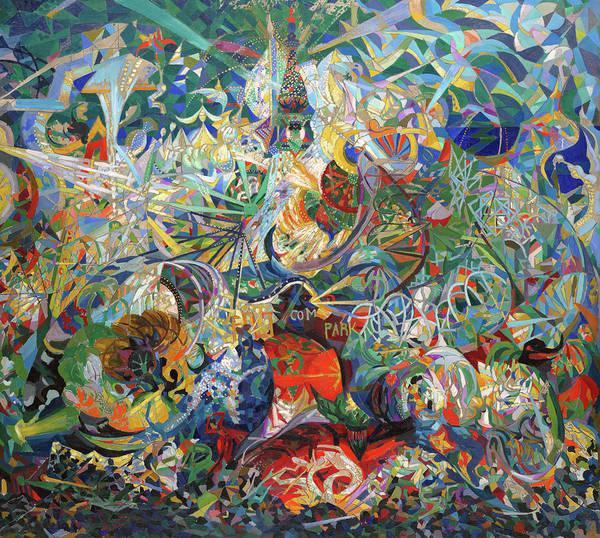 Wall Art - Painting - Battle Of Lights, Coney Island, Mardi Gras by Joseph Stella