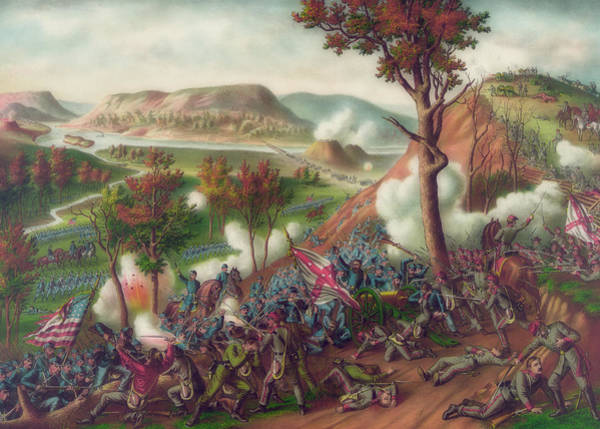 Missionary Ridge Painting - Battle Of Missionary Ridge by Library Of Congress