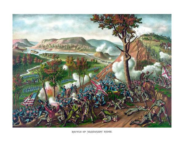 Missionary Ridge Painting - Battle Of Missionary Ridge by War Is Hell Store