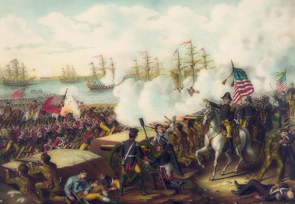 Wall Art - Painting - Battle Of New Orleans by Library Of Congress