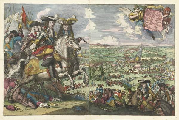 Wall Art - Drawing - Battle Of Saint-denis 1678 by Romeyn de Hooghe