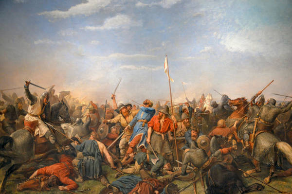 Photograph - Battle Of Stamford Bridge by Peter Nicolai Arbo