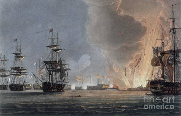 Wall Art - Painting - Battle Of The Nile, August 1798 by Thomas Whitcombe