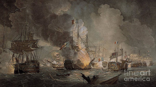 Wall Art - Painting - Battle Of The Nile by Thomas Luny