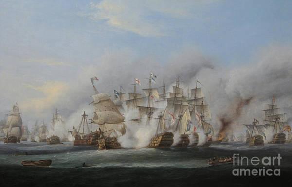 1805 Painting - Battle Of Trafalgar by Thomas Luny