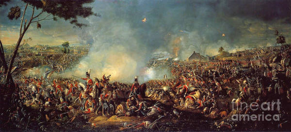 Painting - Battle Of Waterloo 1815 by Celestial Images
