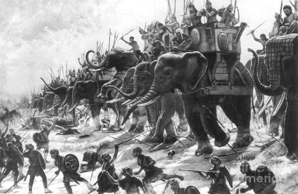 Commander Photograph - Battle Of Zama, Hannibals Defeat by Photo Researchers
