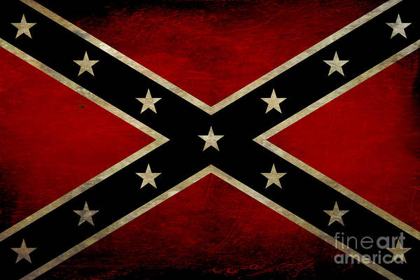Set Design Wall Art - Digital Art - Battle Scarred Confederate Flag by Randy Steele