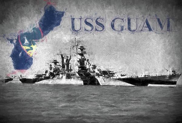 Digital Art - Battlecruiser Uss Guam by JC Findley