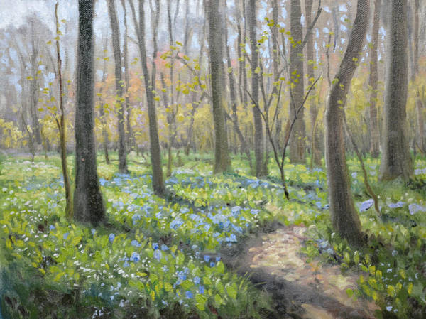 Wall Art - Painting - Battlefield Bluebells by Armand Cabrera
