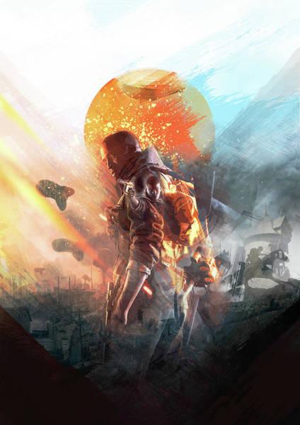 Digital Art - Battlefield Poster by IamLoudness Studio