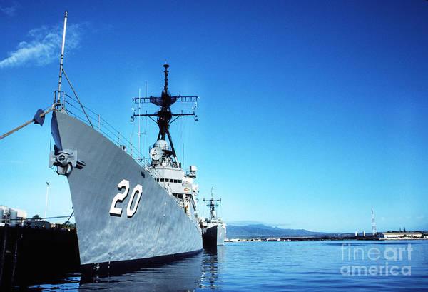 Photograph - Battleship Row Pearl Harbor  by Thomas R Fletcher