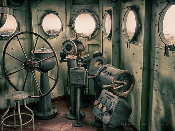 Photograph - Battleship Texas Helm by Charles McKelroy