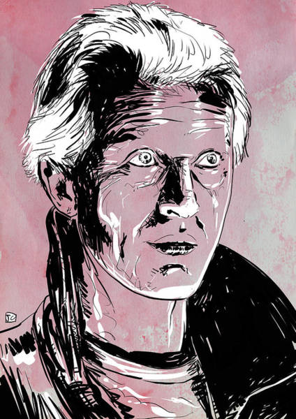 Science Fiction Drawing - Batty From Blade Runner by Giuseppe Cristiano