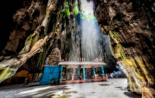 Hindu Goddess Wall Art - Photograph - Batu Cave Sunlight by Adrian Evans