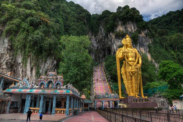 Asian Photograph - Batu Caves by Adrian Evans
