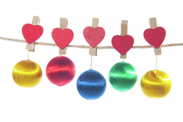 Photograph - Baubles On A Line by Helen Northcott