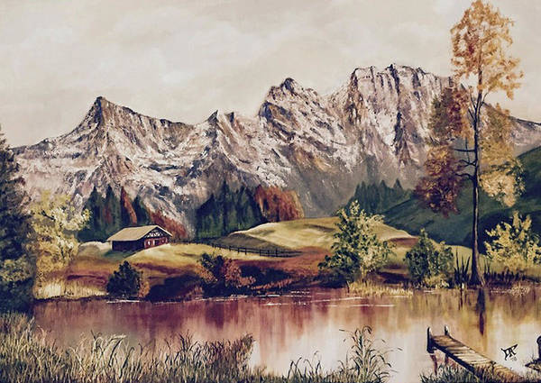 Painting - Bavarian Landscape by Donald Paczynski