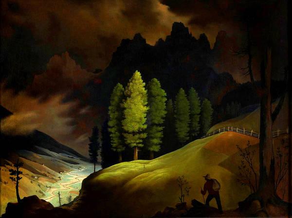 Wall Art - Painting - Bavarian Landscape by Franz Sedlacek