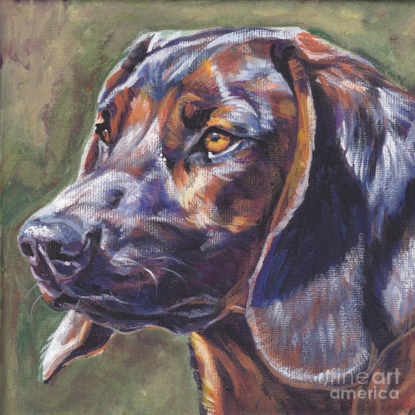 Wall Art - Painting - Bavarian Mountain Dog by Lee Ann Shepard
