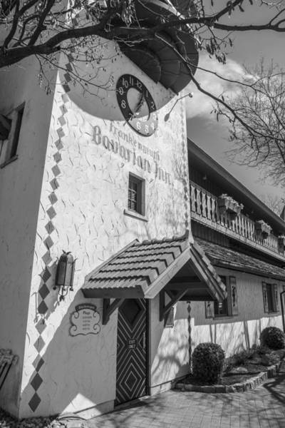 Frankenmuth Photograph - Bavarian Village In Michigan Black And White by John McGraw