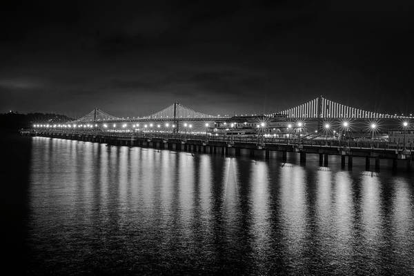 Photograph - Bay Bridge San Francisco California Black And White by Toby McGuire